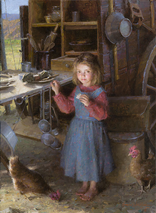 Morgan Weistling - The Chef´s Daughter - Chuck Wagon 1892 -  LIMITED EDITION CANVAS Published by the Greenwich Workshop