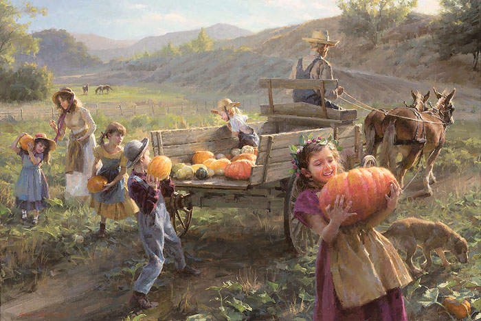 Morgan Weistling - End of Harvest -  MASTERWORK CANVAS EDITION Published by the Greenwich Workshop