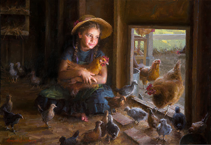 Morgan Weistling - Olivia´s Coop -  LIMITED EDITION CANVAS Published by the Greenwich Workshop