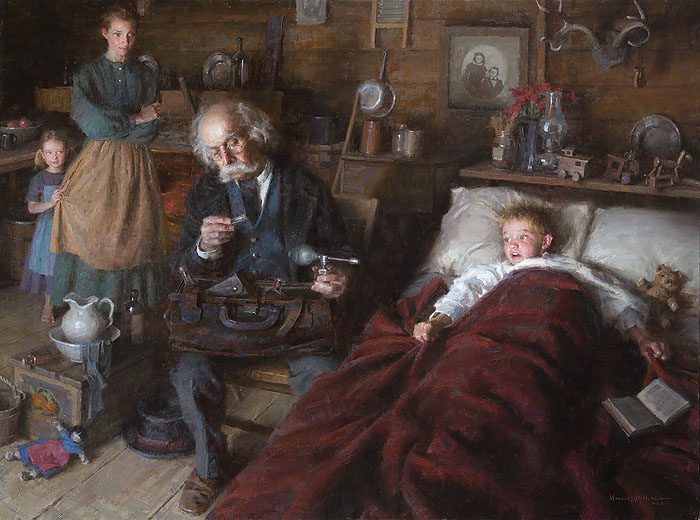 Morgan Weistling - The Country Doctor -  LIMITED EDITION CANVAS Published by the Greenwich Workshop