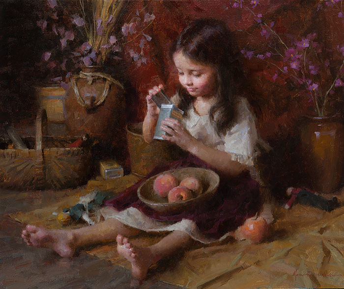 Morgan Weistling - Curious Emily -  LIMITED EDITION CANVAS Published by the Greenwich Workshop