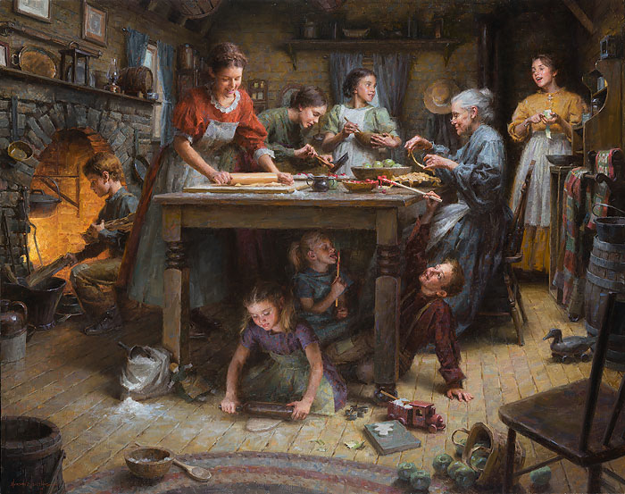 Morgan Weistling - Family Traditions -  MASTERWORK CANVAS EDITION Published by the Greenwich Workshop