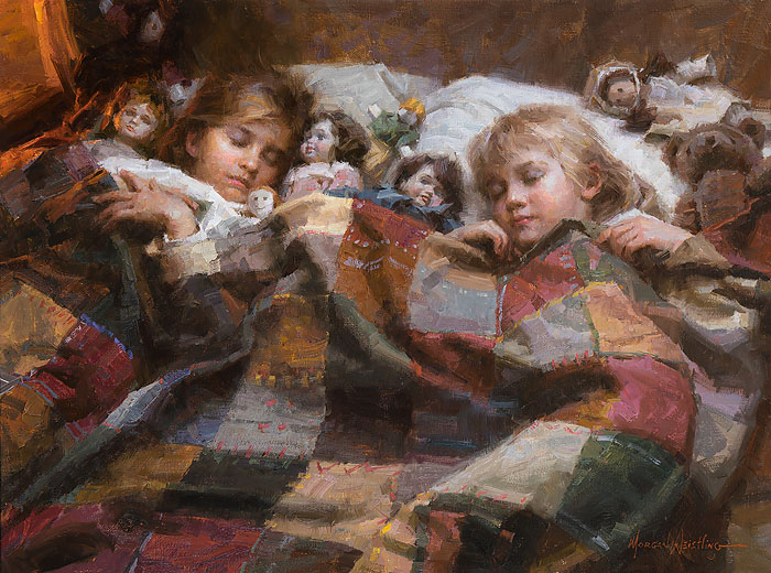 Morgan Weistling - The Sleepover -  LIMITED EDITION CANVAS Published by the Greenwich Workshop
