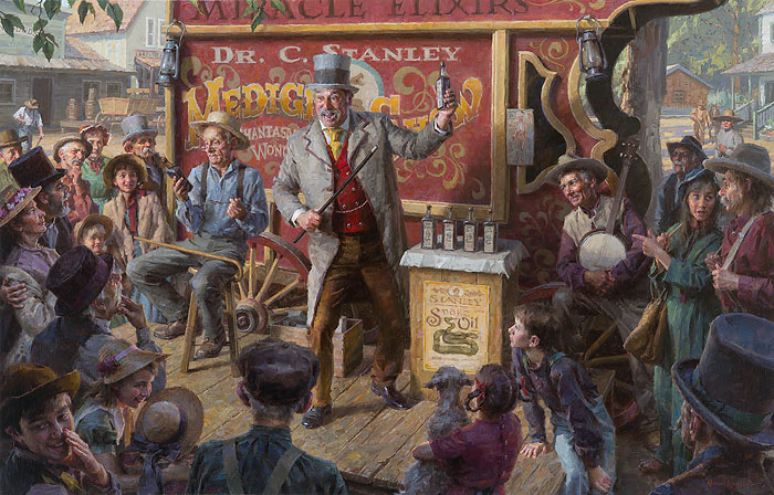 Morgan Weistling - The Snake Oil Salesman -  MASTERWORK CANVAS EDITION Published by the Greenwich Workshop