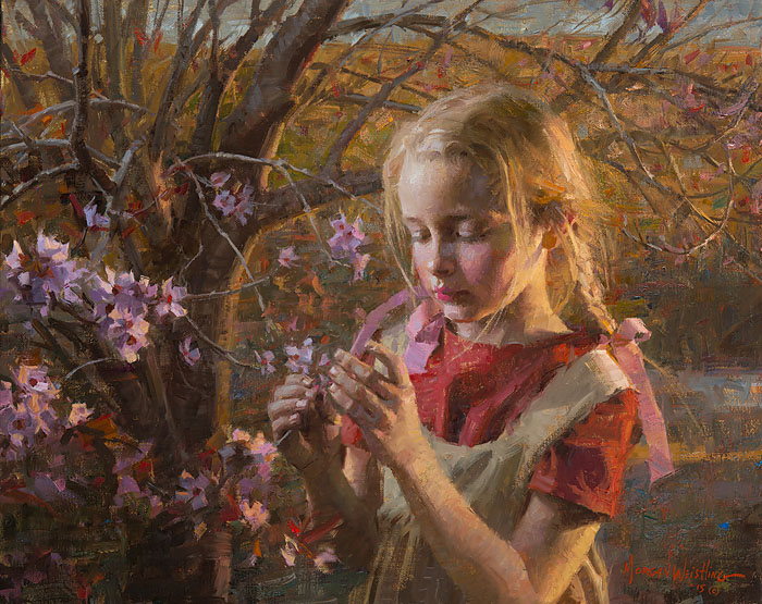 Morgan Weistling - First Blossoms -  LIMITED EDITION CANVAS Published by the Greenwich Workshop
