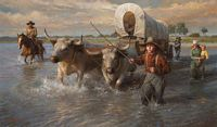 Crossing the Cheyenne River, Summer, 1850