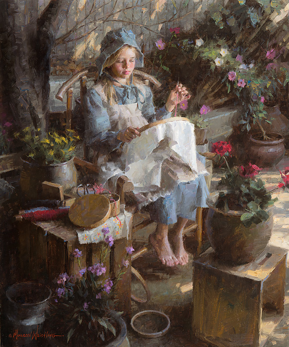 Morgan Weistling - The Needlepoint Artist -  LIMITED EDITION CANVAS Published by the Greenwich Workshop