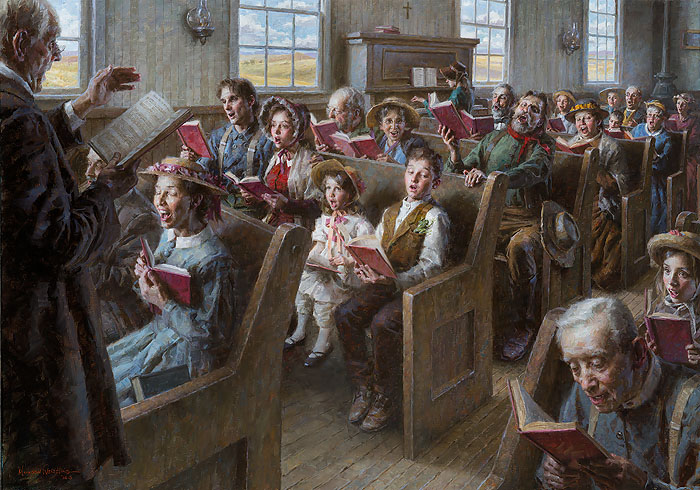 Morgan Weistling - The Prairie Church -  MASTERWORK CANVAS EDITION Published by the Greenwich Workshop