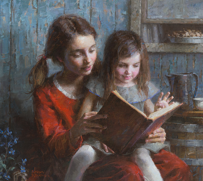 Morgan Weistling - Sister Stories -  LIMITED EDITION CANVAS Published by the Greenwich Workshop
