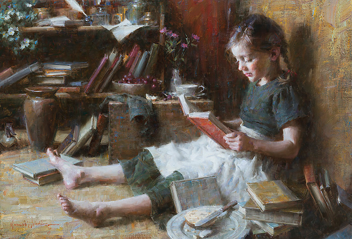 Morgan Weistling - In Her World -  LIMITED EDITION CANVAS Published by the Greenwich Workshop
