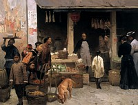Chinatown Market, San Francisco, 1878<br> LIMITED EDITION CANVAS