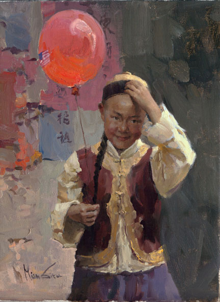 Mian Situ - The Red Balloon -  LIMITED EDITION CANVAS Published by the Greenwich Workshop