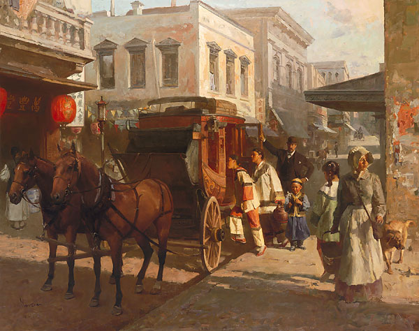 Mian Situ - Pacific Carriage Co., San Francisco, 1905 -  MASTERWORK CANVAS EDITION Published by the Greenwich Workshop