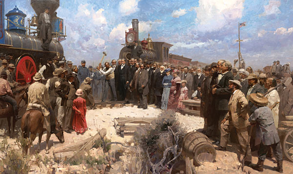 Mian Situ - Golden Spike Ceremony -  MASTERWORK CANVAS EDITION Published by the Greenwich Workshop