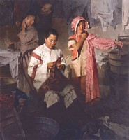 The Calico Dress, Family Laundry, 1906<br> LIMITED EDITION CANVAS