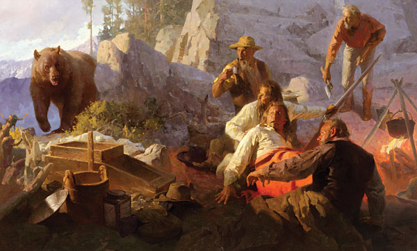 Mian Situ - The Intruder, Angel´s Camp, California, 1849 -  LIMITED EDITION CANVAS Published by the Greenwich Workshop