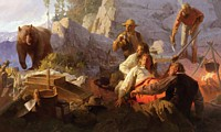 The Intruder, Angel´s Camp, California, 1849<br> MASTERWORK CANVAS EDITION