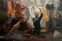 Chinese Family Laundry, 1880