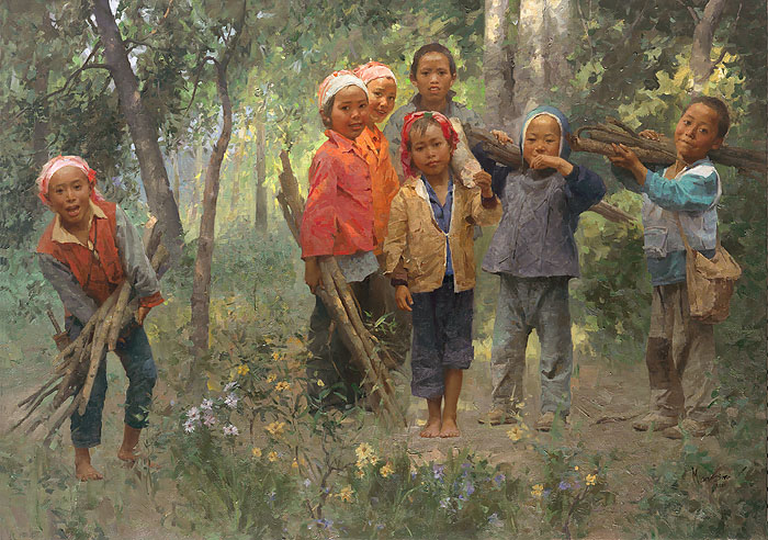 Mian Situ - Firewood Gang -  LIMITED EDITION CANVAS Published by the Greenwich Workshop