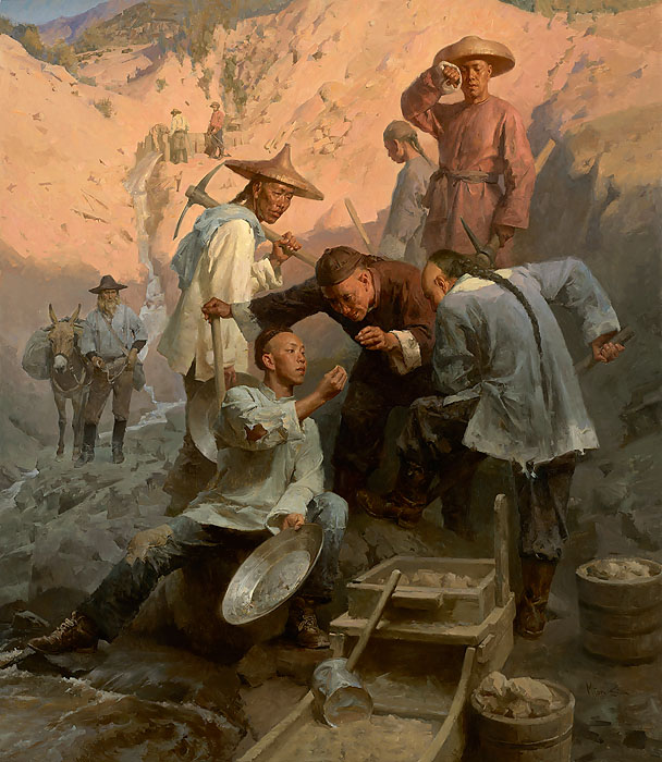 """The Gold Nugget, Chinese Camp, 1850"" by Mian Situ"