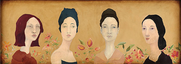 Cassandra Barney - FOUR SPANISH SISTERS -  LIMITED EDITION CANVAS Published by the Greenwich Workshop