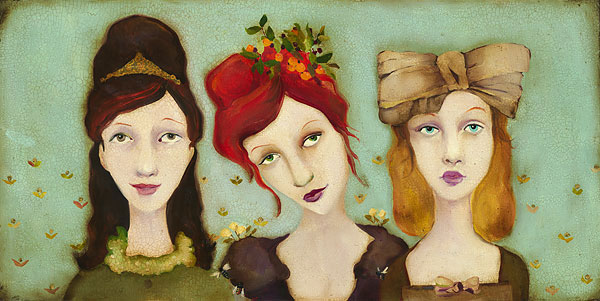 Cassandra Barney - The Bridesmaids -  LIMITED EDITION CANVAS Published by the Greenwich Workshop