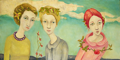 Cassandra Barney - Only Eve Could Hear the Bird´s Love Song -  LIMITED EDITION CANVAS Published by the Greenwich Workshop
