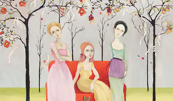 Cassandra Barney - Three Graces -  LIMITED EDITION CANVAS Published by the Greenwich Workshop