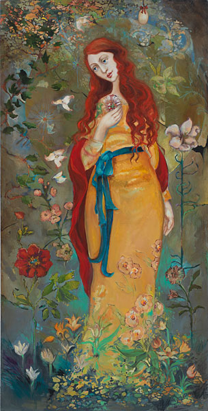 Cassandra Barney - Mary Magdalene -  LIMITED EDITION CANVAS Published by the Greenwich Workshop