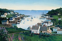 VIEW OF NEW HARBOR<br> LIMITED EDITION CANVAS