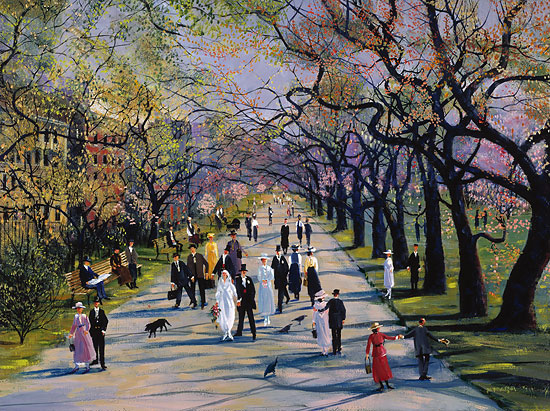 Sally Caldwell Fisher - Spring in the Public Garden -  LIMITED EDITION PRINT Published by the Greenwich Workshop