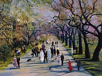 Spring in the Public Garden<br> LIMITED EDITION CANVAS