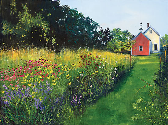 Sally Caldwell Fisher - This Meadow Garden -  LIMITED EDITION CANVAS Published by the Greenwich Workshop