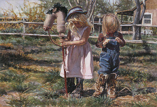 Steve Hanks - Country Girls -  LIMITED EDITION CANVAS Published by the Greenwich Workshop
