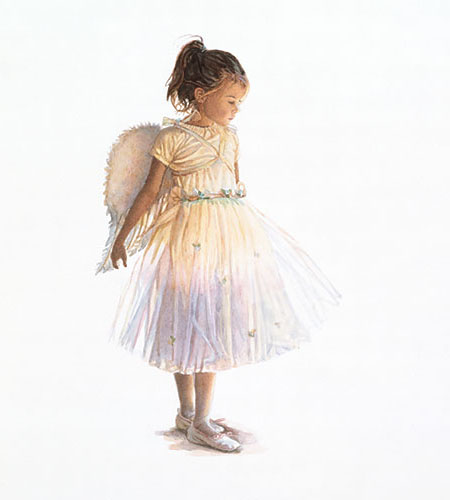 Steve Hanks - My Little Angel -  LIMITED EDITION CANVAS Published by the Greenwich Workshop