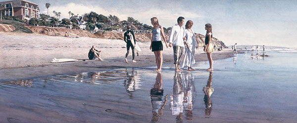 Steve Hanks - Raising Daughters -  LIMITED EDITION CANVAS Published by the Greenwich Workshop