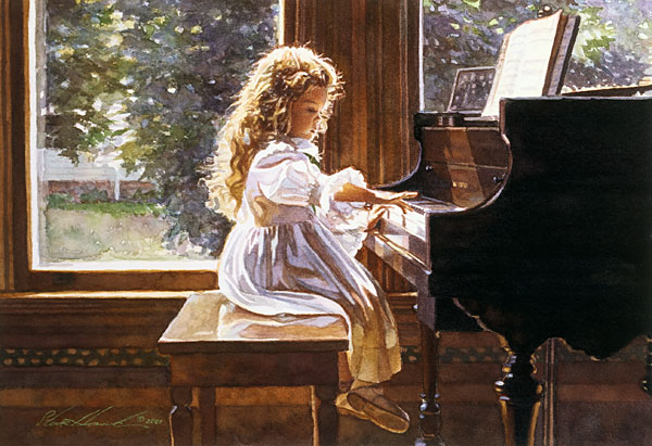 Steve Hanks - The Sound of Tiny Fingers -  LIMITED EDITION PRINT Published by the Greenwich Workshop