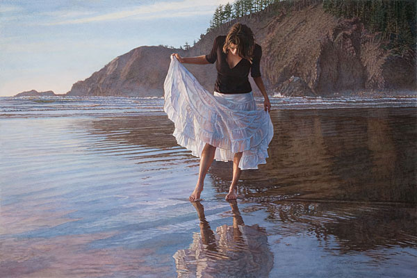 Steve Hanks - Reflecting on Indian Beach -  LIMITED EDITION PRINT Published by the Greenwich Workshop
