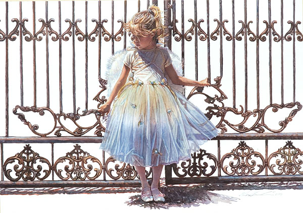 Steve Hanks - Hold Onto the Gate -  LIMITED EDITION CANVAS Published by the Greenwich Workshop