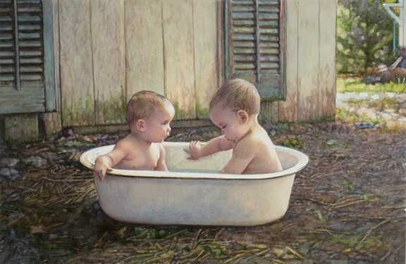 Steve Hanks - Baby Bath -  LIMITED EDITION PRINT Published by the Greenwich Workshop