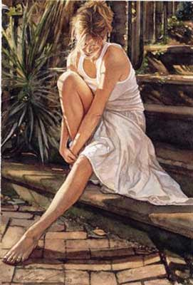 Steve Hanks - Thinking It Over -  LIMITED EDITION CANVAS Published by the Greenwich Workshop