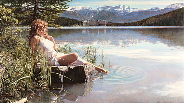 Steve Hanks - Canadian Beauty -  MASTERWORK CANVAS EDITION Published by the Greenwich Workshop