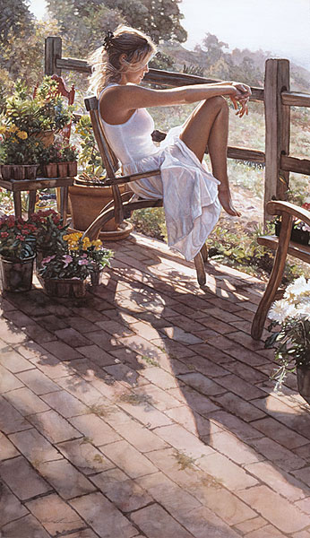 Steve Hanks - Where the Healing Begins -  ANNIVERSARY EDITION CANVAS Published by the Greenwich Workshop