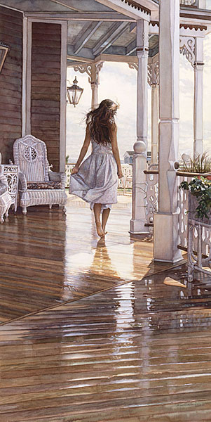 Steve Hanks - Sunshine After the Rain -  ANNIVERSARY EDITION CANVAS Published by the Greenwich Workshop