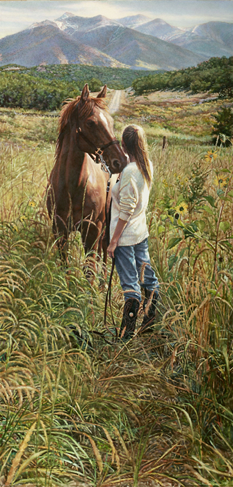 Steve Hanks - Field of Dreams -  LIMITED EDITION CANVAS Published by the Greenwich Workshop
