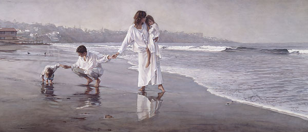Steve Hanks - Holding the Family Together -  ANNIVERSARY EDITION CANVAS Published by the Greenwich Workshop