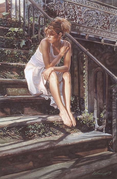 Steve Hanks - Contemplating the Necessary Steps -  LIMITED EDITION CANVAS Published by the Greenwich Workshop