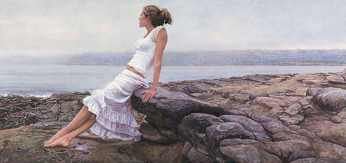 Steve Hanks - At The Edge of So Many Tomorrows -  LIMITED EDITION CANVAS Published by the Greenwich Workshop