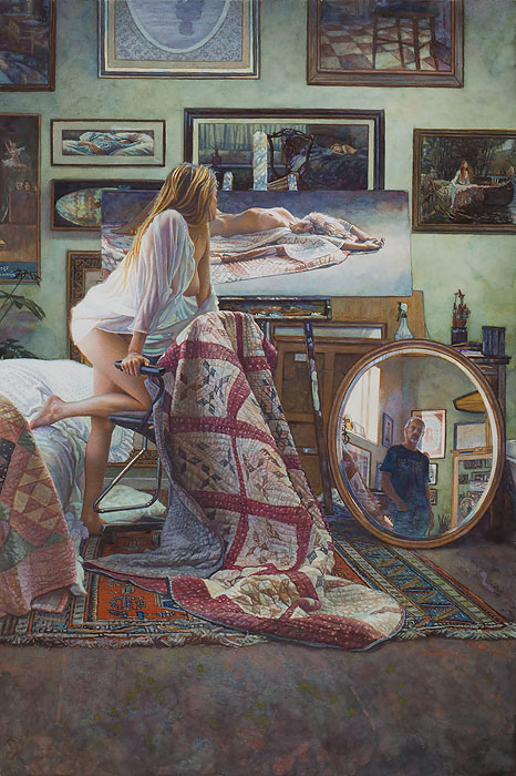 Steve Hanks - In the Artist´s Studio -  LIMITED EDITION CANVAS Published by the Greenwich Workshop