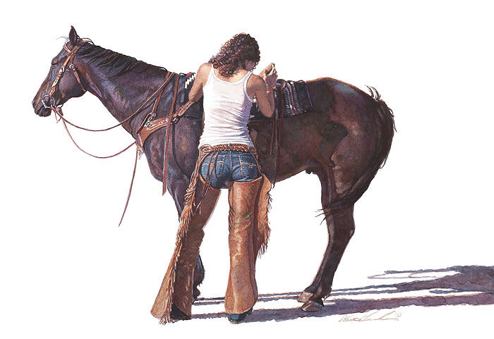 """Saddling Up"" by Steve Hanks"